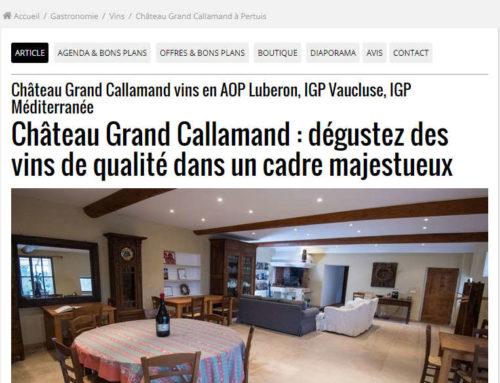 L'OBS parle du Château Grand Callamand